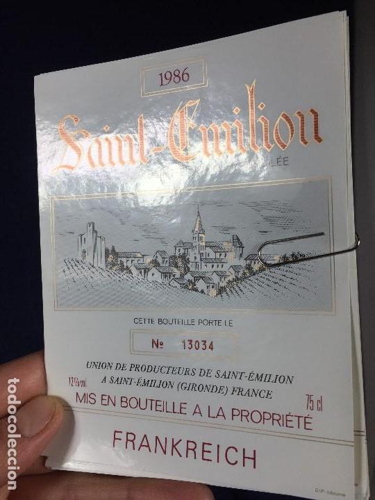 Etiquetas antiguas: 171 ETIQUETAS VINO SAINT EMILION BORDEAUX BURDEOS FRANCIA AÑOS 70 80 - Foto 4 - 150649822