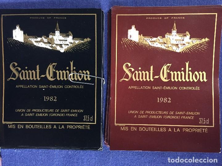 Etiquetas antiguas: 171 ETIQUETAS VINO SAINT EMILION BORDEAUX BURDEOS FRANCIA AÑOS 70 80 - Foto 5 - 150649822