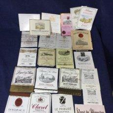 Etiquetas antiguas: 84 ETIQUETAS VINO BORDEAUX BURDEOS FRANCIA AÑOS 80 SIN AÑO 37,5 75CL. Lote 150654030