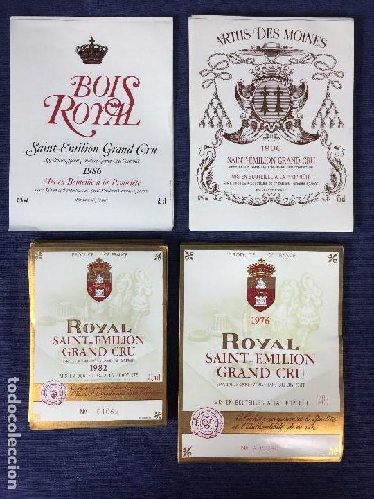 151 ETIQUETAS VINO BORDEAUX BURDEOS FRANCIA AÑOS 70 80 37,5 75 CL (Coleccionismo - Etiquetas)