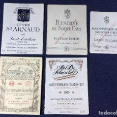 Etiquetas antiguas: 34 ETIQUETAS VINO BORDEAUX BURDEOS FRANCIA AÑOS 80 37,5 75 CL. Lote 150659466