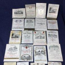 Etiquetas antiguas: 59 ETIQUETAS VINO BORDEAUX BURDEOS FRANCIA AÑOS 70 80 37,5 75 CL. Lote 150663562