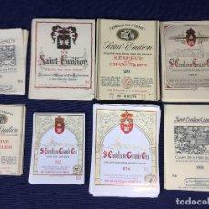 Etiquetas antiguas: 304 ETIQUETAS VINO BORDEAUX BURDEOS FRANCIA AÑOS 70 80 37,5 75 150CL. Lote 150665158