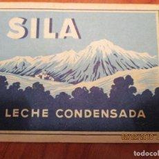 Etiquetas antiguas: LECHE CONDENSADA SILA. SAN CELONI (MONTSENY) REGISTRO SANIDAD Nº 29. AÑO 1947 - MUY ANTIGUA 7X23CM 7. Lote 152375390