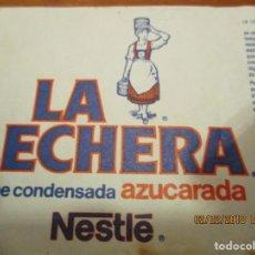 Etiquetas antiguas: LECHE CONDENSADA LA LECHERA , NESTLE - ANTIGUA 7,5 X 21,5 CM.. Lote 152376174