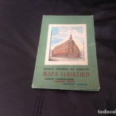 Etiquetas antiguas: MAPA DE ESPAÑA DEL BANCO ESPAÑOL DE CREDITO. Lote 152431636