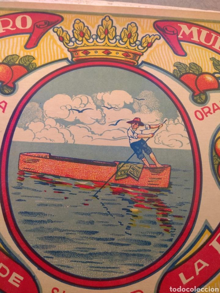 Etiquetas antiguas: Etiqueta de Naranjas Pedro Mulet - Albalat de la Ribera - Valencia - firma A.Carot - - Foto 4 - 152761002