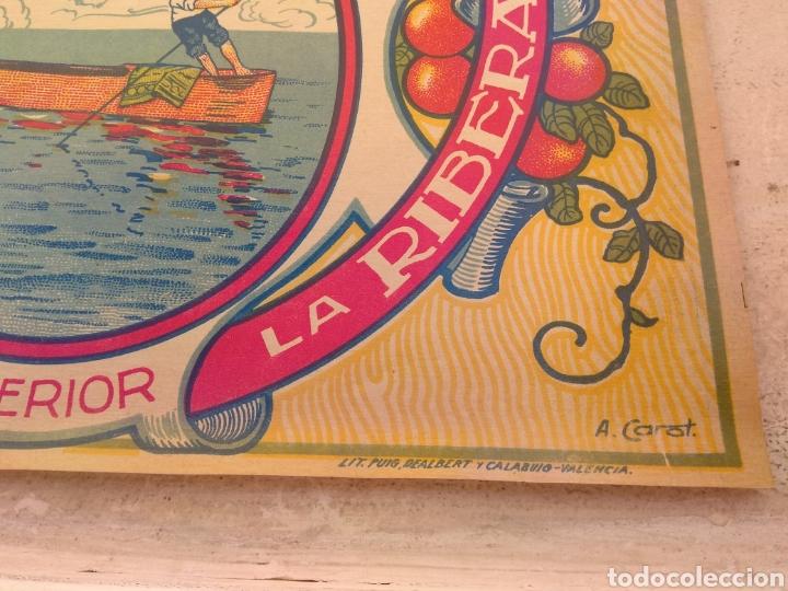 Etiquetas antiguas: Etiqueta de Naranjas Pedro Mulet - Albalat de la Ribera - Valencia - firma A.Carot - - Foto 5 - 152761002