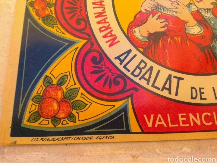 Etiquetas antiguas: Etiqueta de Naranjas Las Dos Gemelas Mulet - Albalat de la Ribera - Valencia - - Foto 3 - 152761304