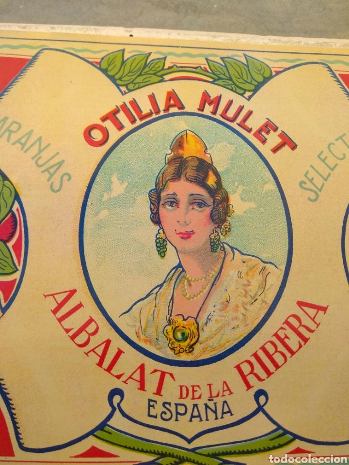 Etiquetas antiguas: Etiqueta de Naranjas Otilia Mulet - Albalat de la Ribera - Valencia - - Foto 3 - 152761656