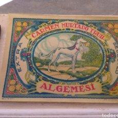 Etiquetas antiguas: ETIQUETA DE NARANJAS CARMEN HURTADO TRULL - ALGEMESÍ - VALENCIA - FIRMA DUVÓN -. Lote 152762577