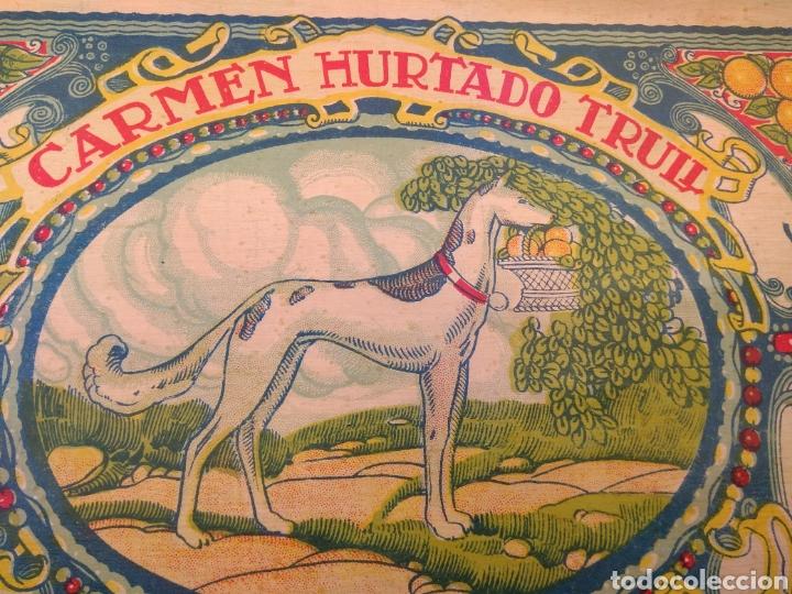 Etiquetas antiguas: Etiqueta de Naranjas Carmen Hurtado Trull - Algemesí - Valencia - firma Duvón - - Foto 3 - 152762577