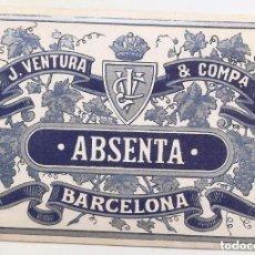Étiquettes anciennes: ETIQUETA ABSENTA J. VENTURA, BARCELONA. Lote 153091906