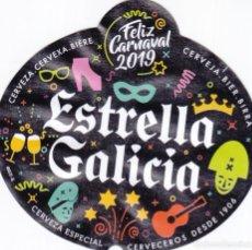Etiquetas antiguas: ETIQUETA ESTRELLA GALICIA - FELIZ CARNAVAL 2019. Lote 236450970