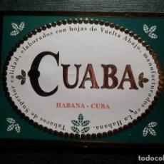 Etiquetas antiguas: ANTIGUA ETIQUETA - CAJA DE PUROS - CUABA - HABANA CUBA - 10 X 8 CM. - NUEVA . Lote 156675914
