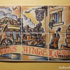 Etiquetas antiguas: ETIQUETA PARA MALETA - BAGGAGE LABEL - HOTEL LOS ANGELES - MADRID - 12,5 X 8,5 CM.. Lote 156676118