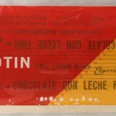 Etiquetas antiguas: ENVOLTORIO CHOCOLATE EL GORRIAGA. LINGOTIN.. Lote 157892914