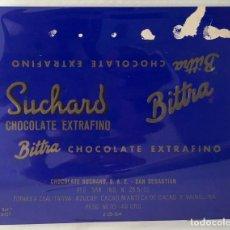 Etiquetas antiguas: ENVOLTORIO CHOCOLATE SUCHARD. BITTRA. CHOCOLATINA.. Lote 157893950