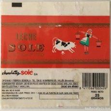 Etiquetas antiguas: ENVOLTORIO CHOCOLATE SOLÉ. CHOCOLATINA.. Lote 157894314