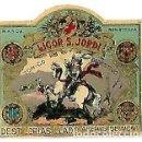 Etiquetas antiguas: MINI ETIQUETA ** LICOR S, JORDI TONICO DIGESTIVO ** DESTILERIAS LLADO -ARENYS DE MUNT . Lote 158407782