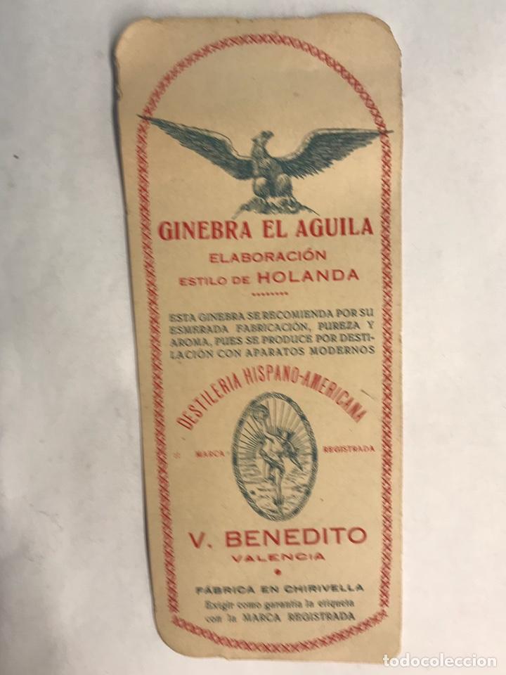 PUBLICIDAD. ETIQUETAS. GINEBRA ELABORACIÓN ESTILO HOLANDA. VALENCIA (H.1950?) (Coleccionismo - Etiquetas)