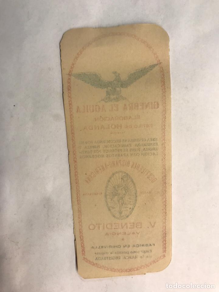 Etiquetas antiguas: PUBLICIDAD. Etiquetas. Ginebra elaboración estilo Holanda. Valencia (h.1950?) - Foto 2 - 158821362