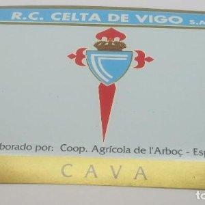 R.C. Celta de Vigo. S.A.D. Cooperativa Agrícola de l'Arboç. Cava. Etiqueta