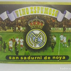 Real Madrid. Vino espumoso. San Sadurni de Noya. Etiqueta impecable