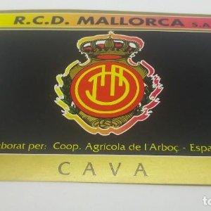 R.C.D. Mallorca. S.A.D. Cooperativa Agrícola de l'Arboç. Cava. Etiqueta impecable