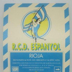 R.C.D. Espanyol. Rioja. Bodegas Navajas. Lo Navarrete. Rioja alta. Etiqueta impecable