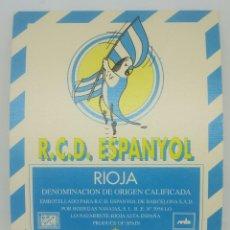Etiquetas antiguas: R.C.D. ESPANYOL. RIOJA. BODEGAS NAVAJAS. LO NAVARRETE. RIOJA ALTA. ETIQUETA IMPECABLE. Lote 159030006