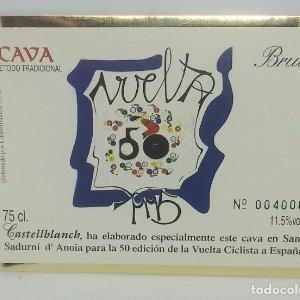 Vuelta ciclista a España 50 aniversario. 1995. Castellbanch. Etiqueta numerada 004008