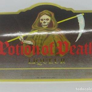 Potion of Death. Liqueur. Andorra. 2 etiquetas de 10,8x9cm