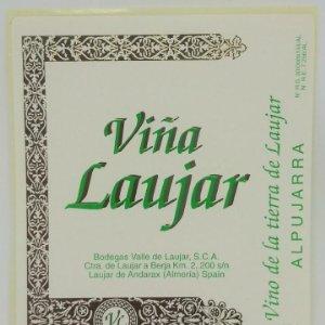 Viña Laujar. Vino de la tierra de Laujar. Alpujarra. Laujar de Andarax Almería. Etiqueta nunca usada
