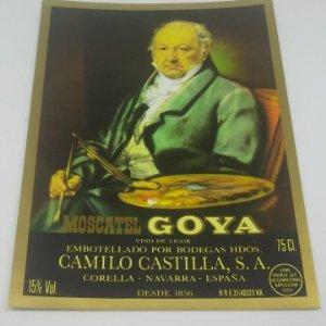 Moscatell Goya. Etiquetas nunca pegada. Corella. Navarra 14x10,5