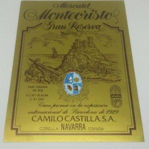 Moscatell Montecristo. Etiqueta nunca pegada. Corella. Navarra 10,7x14,5cm