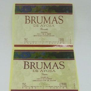 3 etiquetas Brumas de Ayosa. Tenerife. Valle de Guímar. 3 Etiquetas / pegatina sin pegar 10x7,5cm