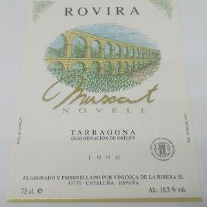 Rovira. Muscat Novell. Tarragona. 1996 Etiqueta nunca pegada, como nueva. 12,5x9,1cm