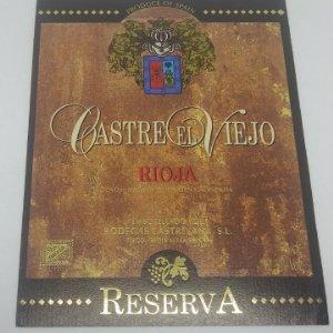 Castre el viejo. Rioja. Reserva. Bodegas Castresana. Tirgo. Etiqueta impecable nunca pegada 13x10cm