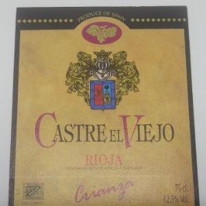 Castre el viejo. Rioja. Crianza. Bodegas Castresana. Tirgo. Etiqueta impecable nunca pegada 13x10cm