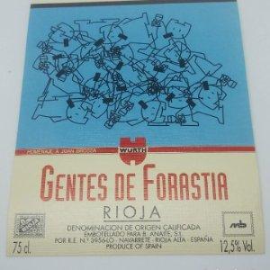 Homenaje a Joan Brossa. Gentes de forastia. Rioja. Navarrete. 12,5x10cm. Impecable. Nunca pegada