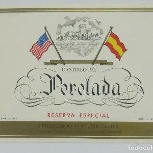 Castillo de Perelada. Reserva especial. Letras en relieve. 13,2x10cm