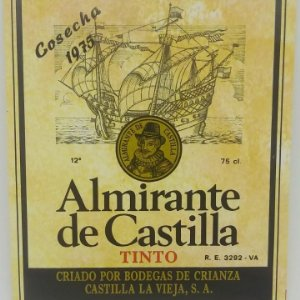 Almirante de Castilla. Cosecha 1975 Bodegas de crianza. Castilla la vieja Etiqueta impecable 12x10cm