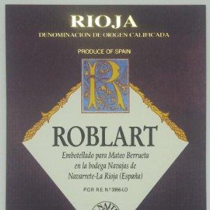 Roblart. Rioja. Mateo Barrueta. Navajas de Navarrete Etiqueta 13x10cm impecable. Nunca pegada