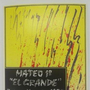 Mateo I el grande 1970 Reserva. Etiqueta 10,5x13cm impecable. Nunca pegada en botella