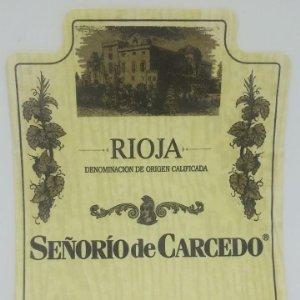 Señorío de Carcedo. Bodegas Cardema. Fuenmayor. La Rioja. Etiqueta usada 13x9,8