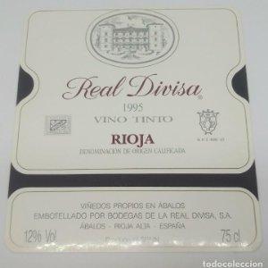 Marqués de Legarda 1995 Bodegas de la real divisa. Abalos. Rioja. Impecable, nunca usada 12x10,7