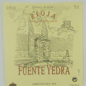 Fuente Yedra. Rioja. S.C. San Justi y San Isidro. Quel. La Rioja. Etiqueta impecable 12x10cm
