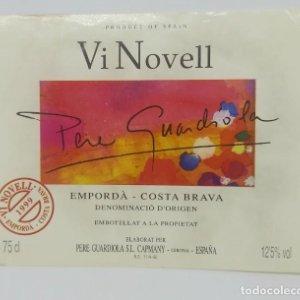 Pere Guardiola. Vi Novell 1999 Empordà. Costa Brava. Etiqueta 11x8,5cm