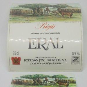 Eral. Pere Herraiz. Bodega Jose Palacios. Logroño. La Rioja. 2 Etiquetas impecable
